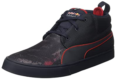 Puma Men's Rbr Desert Boot Team Total Eclipse and Chinese Red Sneakers - 10  UK/