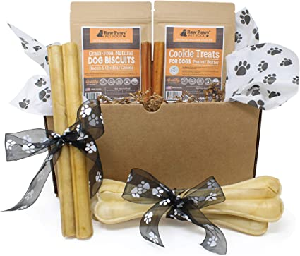 Amazon.com: RAW Paws Pet Dog Treats – Caja de Regalo para ...