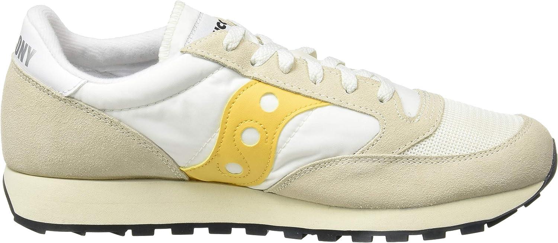 Saucony - Jazz Original - Sneakers Basses- Femme Blanc - Beige - Jaune