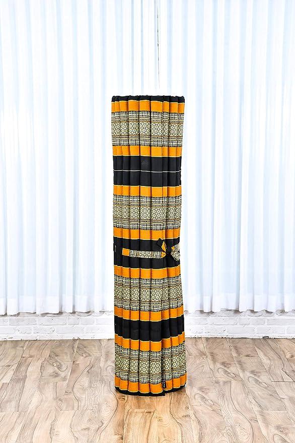 Leewadee XXL Colchoneta Thai Enrollable Extra Ancha, 200x150x5 cm, Colchón De Invitados Esterilla De Yoga Futon Masaje Thai Colchoneta De Dormir ...