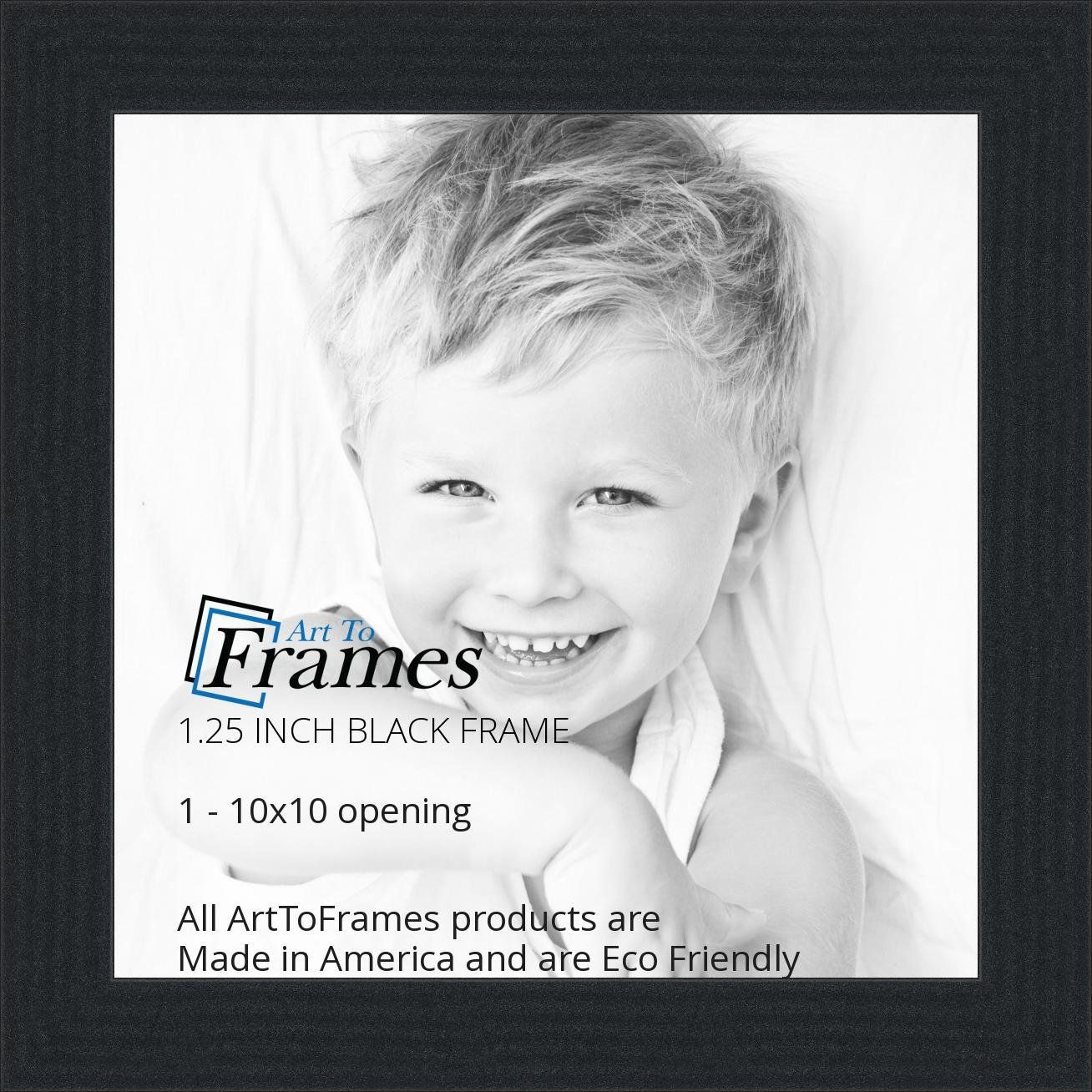 amazoncom arttoframes 10x10 inch black picture frame womfrbw72079 10x10 single frames