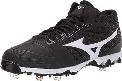 Mizuno Mens 9-Spike Ambition Low Metal Cleat Baseball Shoe