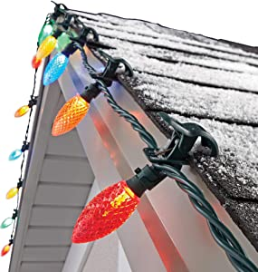 NOMA C9 LED Quick Clip Christmas Lights | 100 + 24 Ct Multi-Color Bulbs