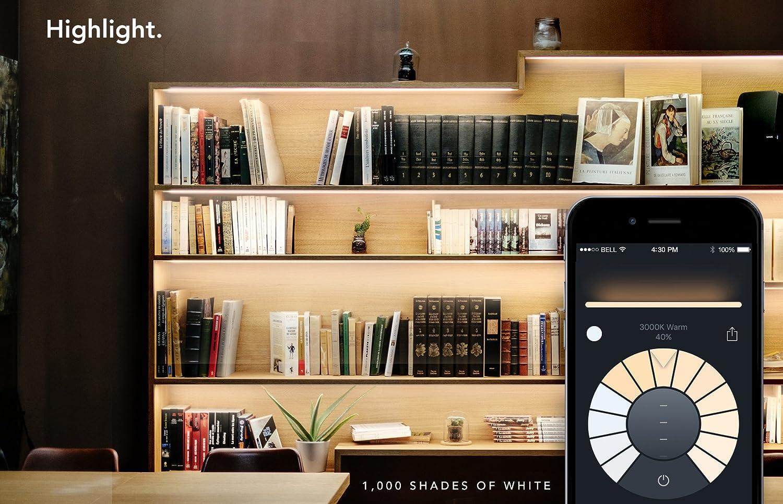 Apple HomeKit und Google Assistant Energieklasse A+ dimmbar funktioniert mit  Alexa 1 Meter kein Hub erforderlich LIFX-Z RGB Strip Erweiterung smartes WLAN LED-Lichtband mehrfarbig