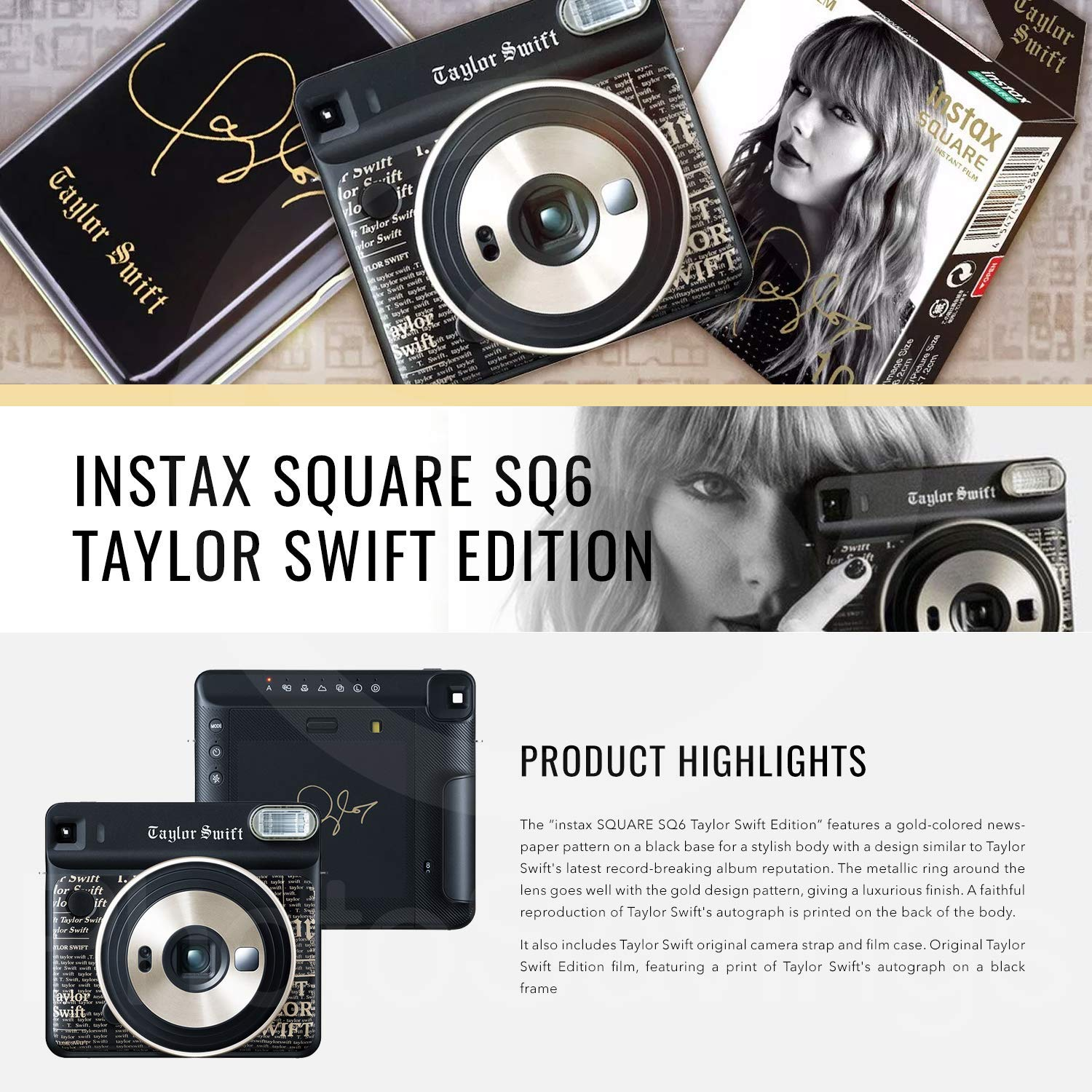 Fujifilm instax Square SQ6 Instant Film Camera (Taylor Swift Limited Edition) with Square Instant Film Bundle by Fujifilm (Image #2)
