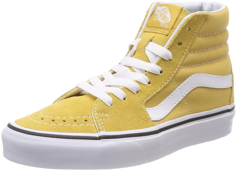 Vans Sk8-Hi, Zapatillas Altas Unisex Adulto 40.5 EU|Amarillo (Ochre/True White Qa0)