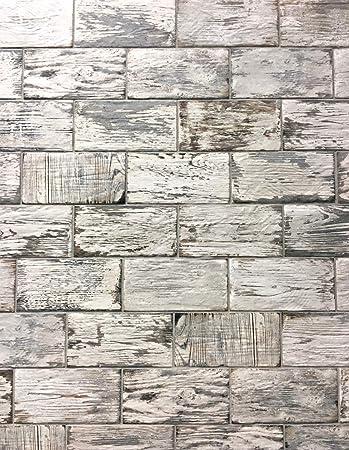 rustic white brick look 4x8 porcelain