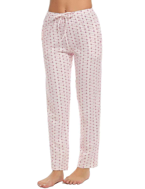 Ekouaer Sleep Pants Woman Plus Size Printed Pjs Bottoms Loungewear