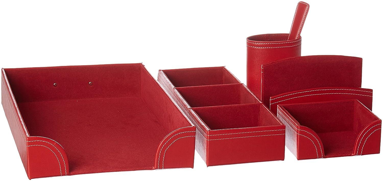 Editions Oberthur Set Buro gioco di ufficio classica rosso 466691.0