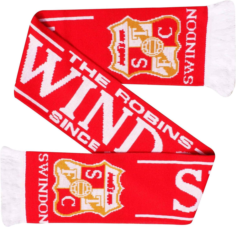 Swindon Town /Écharpe pour Fans de Football 100/% Acrylique