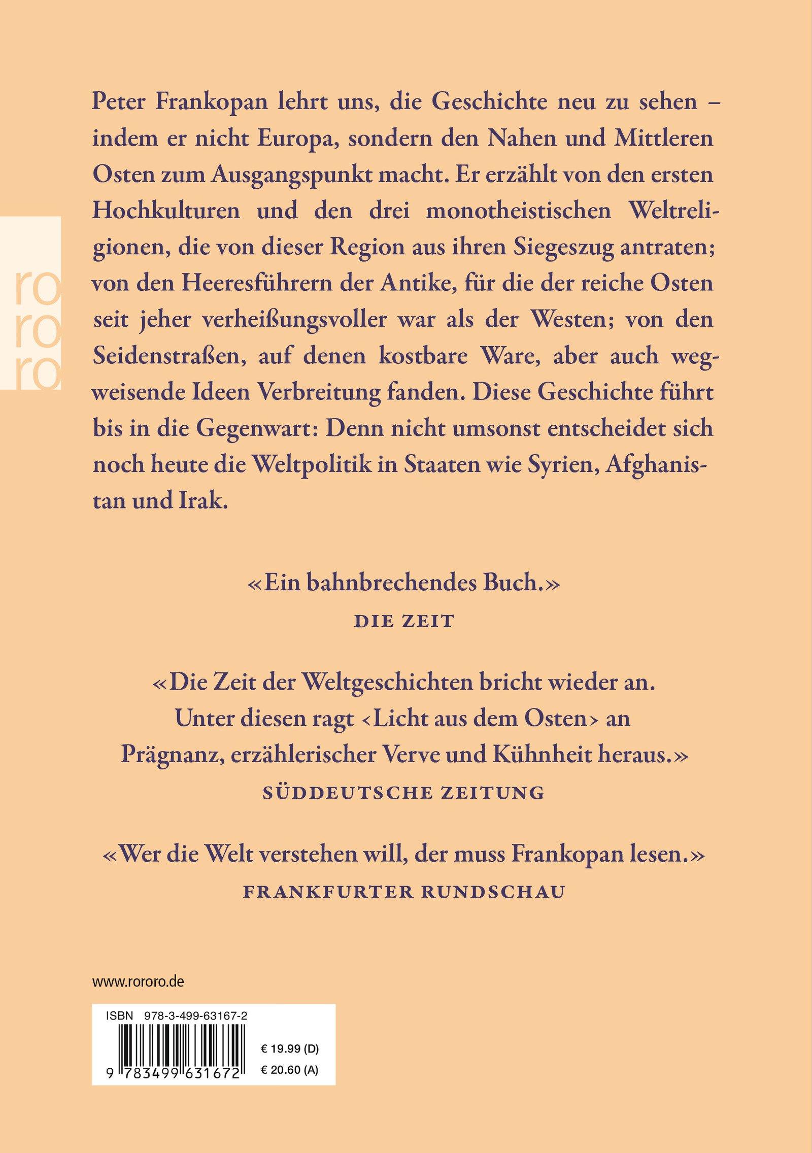 Licht aus dem Osten: Eine neue Geschichte der Welt: Amazon.de: Peter ...