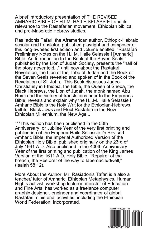 Rastafari Notes & H I M  Haile Selassie Amharic Bible: Ras