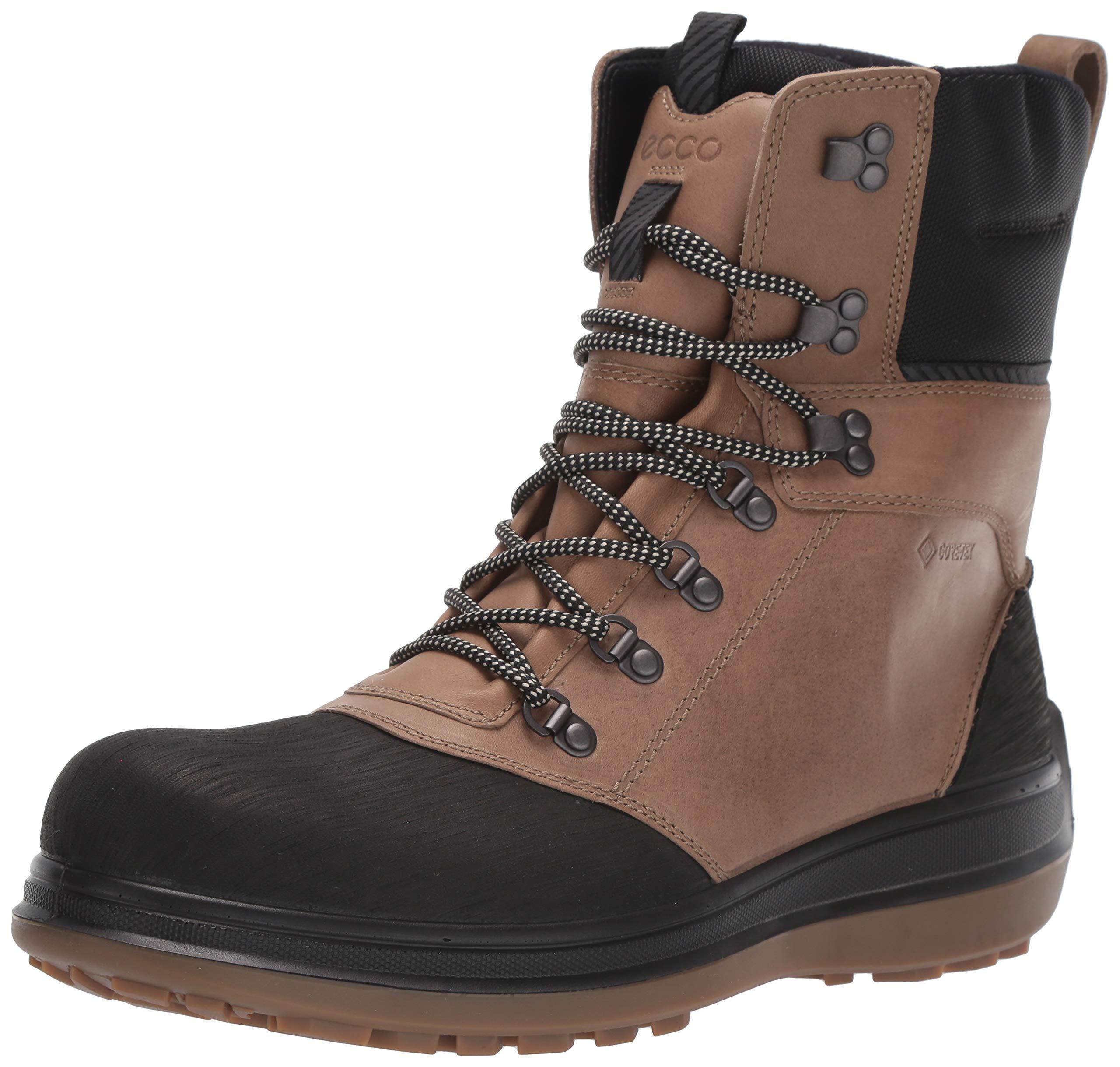 ECCO Men's Roxton Winter Gore-Tex Snow Boot, Black/Navajo Brown/Primaloft G, 45 M EU (11-11.5 US) by ECCO
