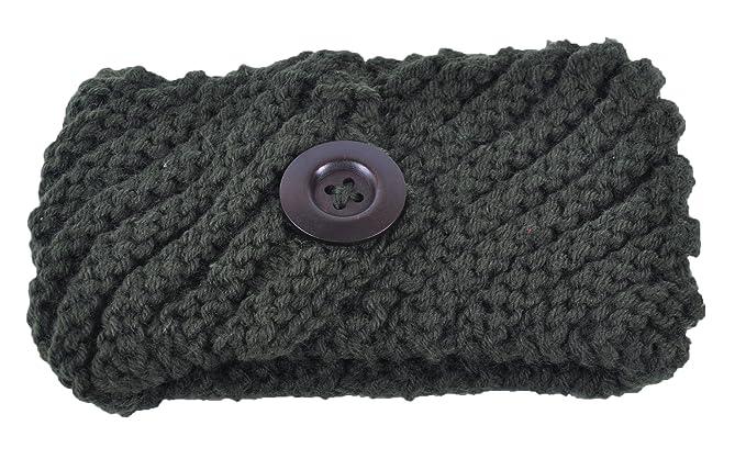 begrenzter Preis neuer & gebrauchter designer anerkannte Marken Winterwolle Stirnband mit Knopf Ski Ohrenschützer