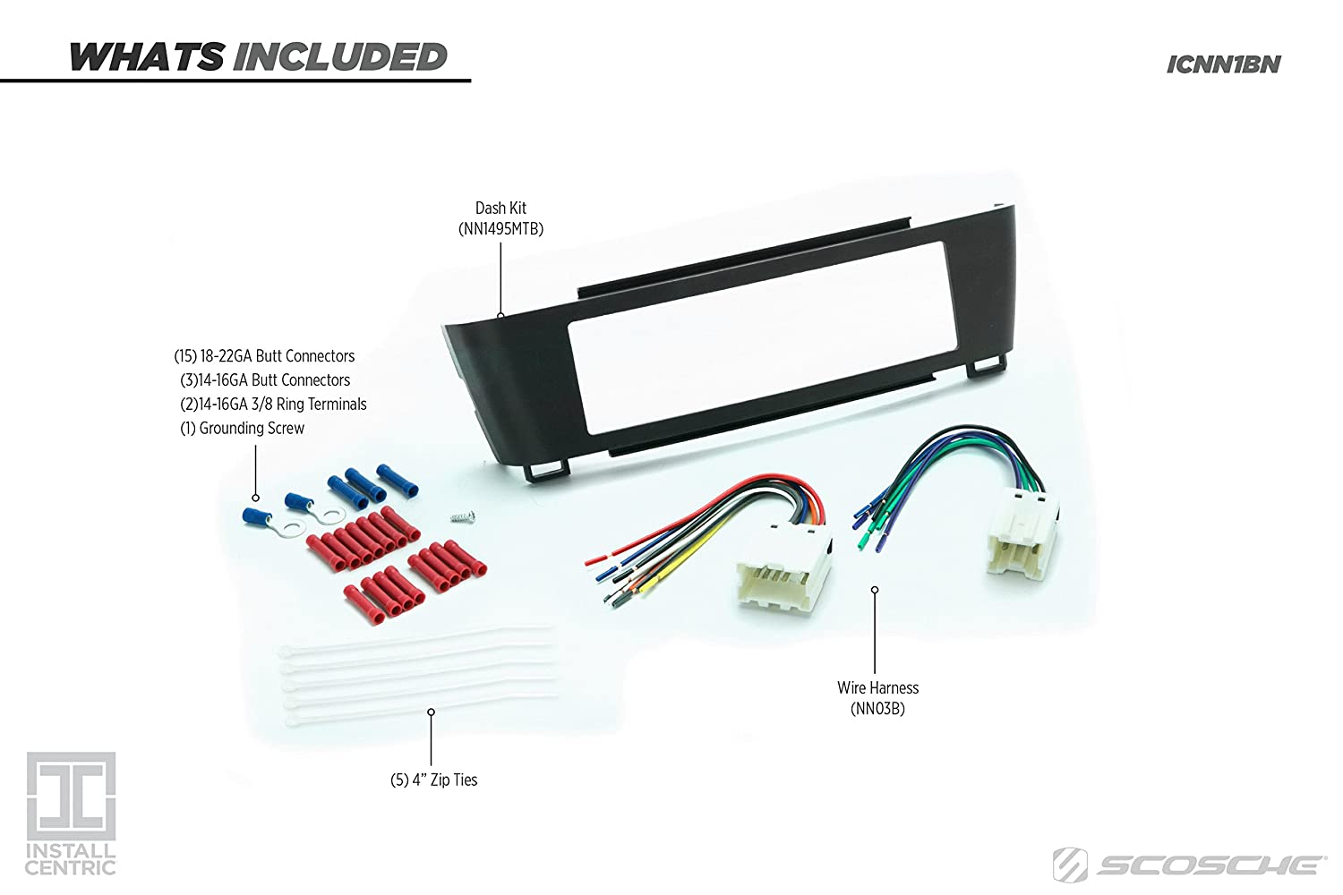 Scosche Nn1495mtb 2000 06 Nissan Sentra Single Din 2001 Cooling System Diagram Wiring Schematic Install Dash Kit Metallic Color Car Electronics