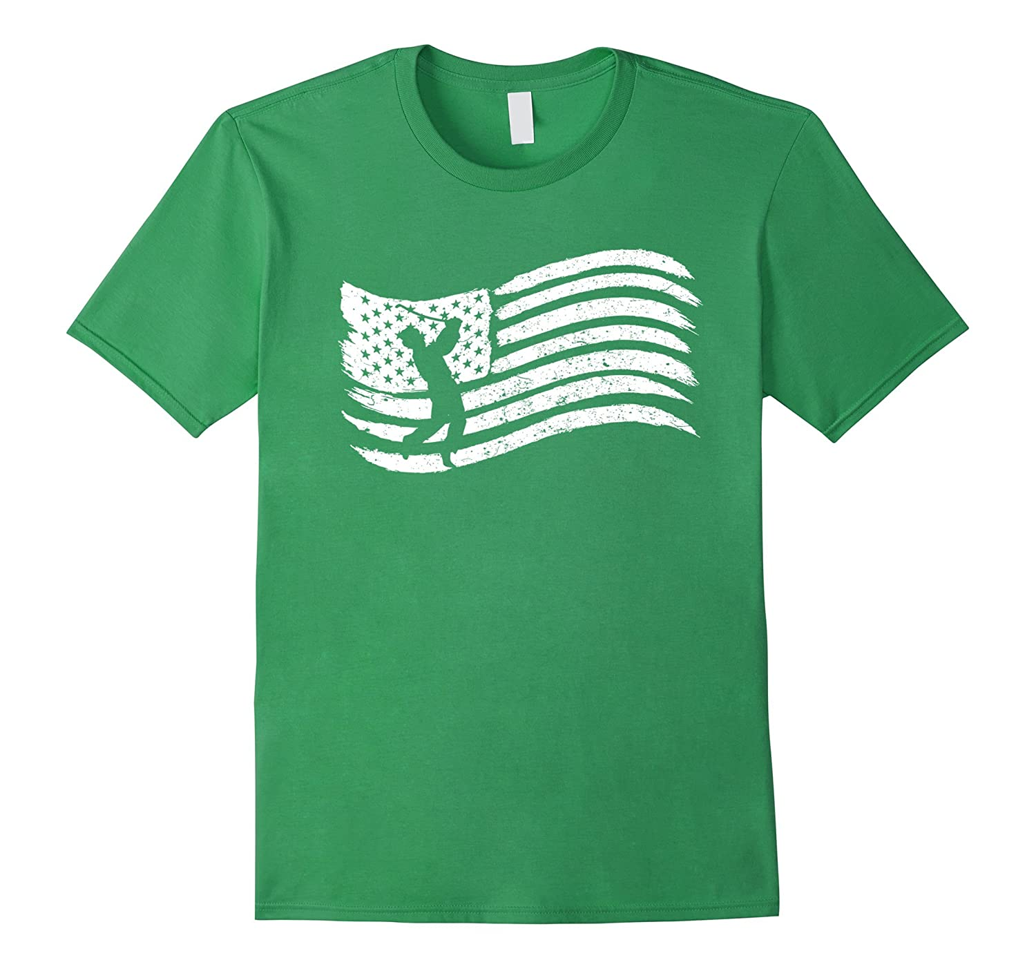 American Flag T-Shirt For Golf Player Vintage Look