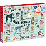 "Mudpuppy Hot Dogs A-Z Puzzle, 1,000 Piece Dog Jigsaw Puzzle, 27""x20"", Perfect for Ages 8-99+, Family Puzzle to Celebrate Dogs"