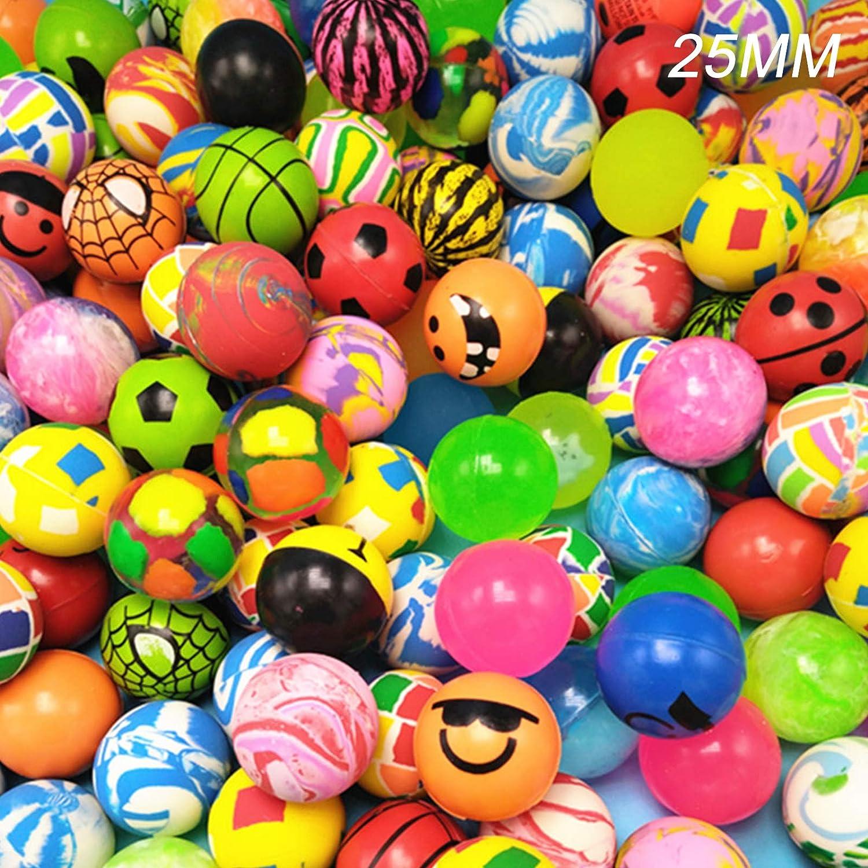 300 Stück Gummi Flummi Springball Gummiball Mitgebsel Tombola Geburtstag Spielzeug