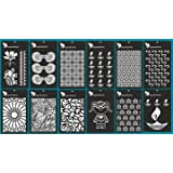 Expressions Crafts Home Decor, Mixed Creative Pattern, Multi-Shape, Attractive Design, Laser Planner Stencil Template Set for Painting On Wood, Canvas, Scrapbook, Journal, Diary (Set of 12)