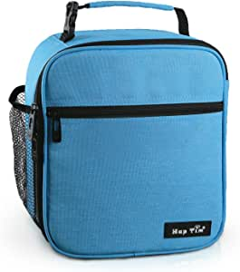 Reusable Lunch Bag, Insulated Lunch Box for Men/Kids,Tough & Spacious Adults Cooler Bento Box for Men & Women(AU18654-BL)