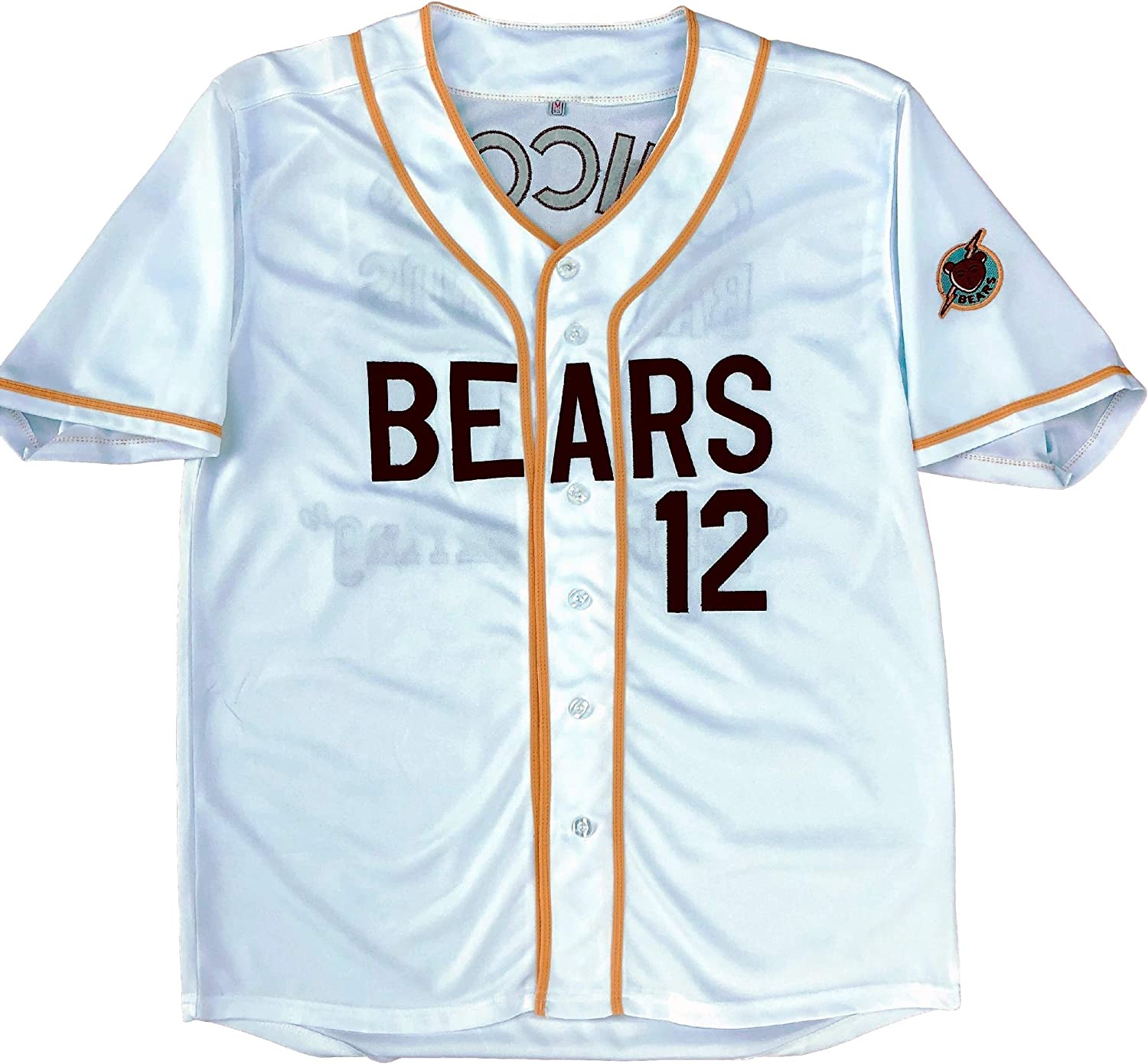 MVG ATHLETICS Bad News Bears Movie Baseball Jersey #12 Embroidered S-XXL