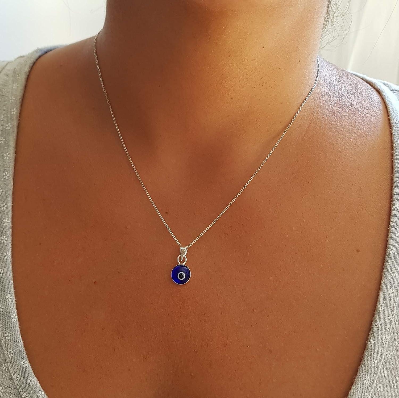 midnight blue glass beads Dark navy fur necklace NNNCK2544 stainless steel ..