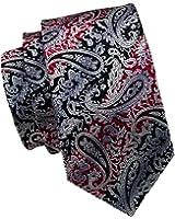 CAOFENVOO Mens Woven Silk Paisley Necktie Wedding Tie