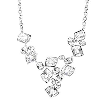 4353320e6541b6 Image Unavailable. Image not available for. Color  Crystaluxe V-Shape  Necklace with Swarovski Crystals ...