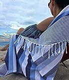 Lux Oversized 38x68 Absorbent Cotton Beach Towel W/ Hidden ZIPPER POCKET 100% Natural Turkish Cotton XL - SAND FREE…