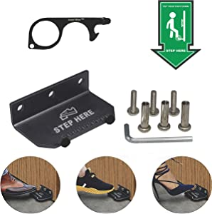Foot Pull Door Opener Tool - No Touch Step and Pull Hands Free Stylus Keychain Contactless Handle Elevator Button Pusher Kit for Restaurant Office School and Home