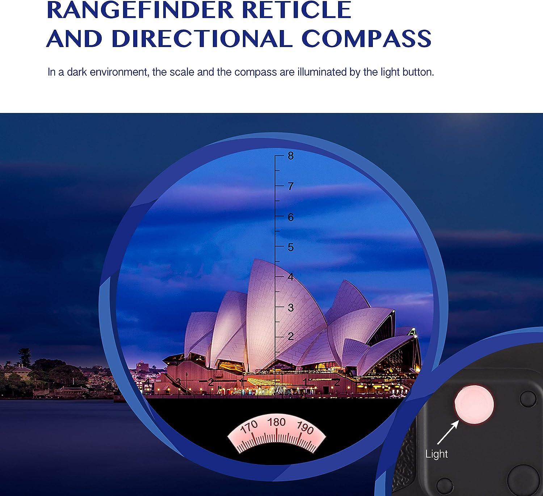 Aomekie - Prismáticos marinos (7 x 50 mm, impermeables, para adultos, brújula BAK4, visión nocturna, con estuche iluminado y correa de prisma de porro (camuflaje): Amazon.es: Electrónica