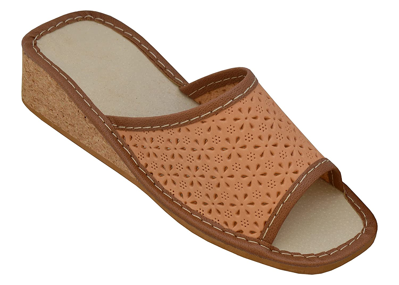 BeComfy Pantofole Donna  Modell 4 Kork-Keilabsatz