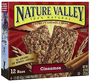 Nature Valley Cinnamon Granola Bars, 6 ct
