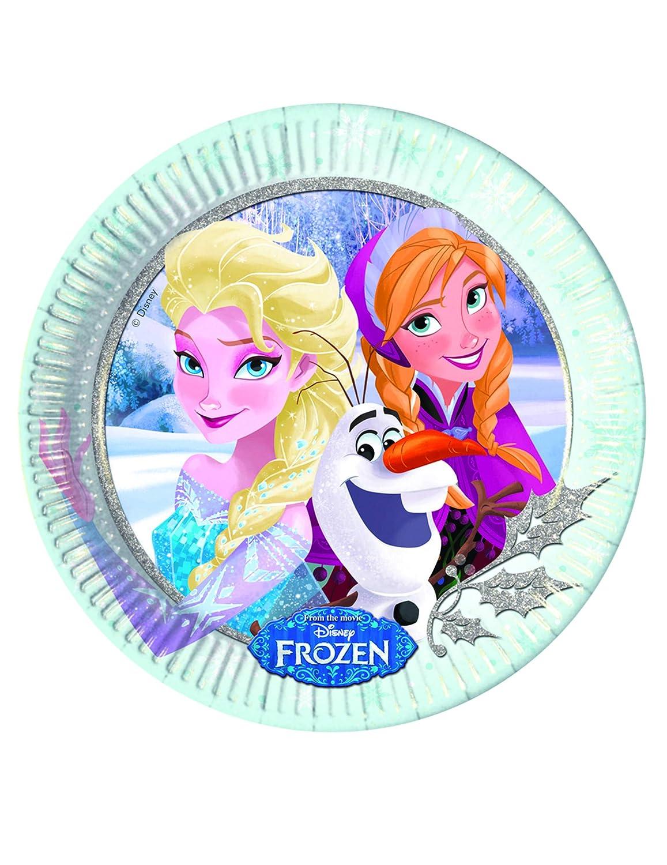 COOLMP - Juego de 12 Platos de cartón con diseño de Frozen ...