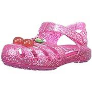 crocs Girls' Isabella Novelty Sandal, Vibrant Pink, 9 M US Toddler