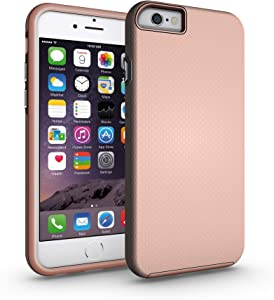 iPhone 6 / 6s Case, CellEver Dual Guard Protective Shock-Absorbing Scratch-Resistant Rugged Drop Protection Cover for Apple iPhone 6 / 6S (Rose Gold)