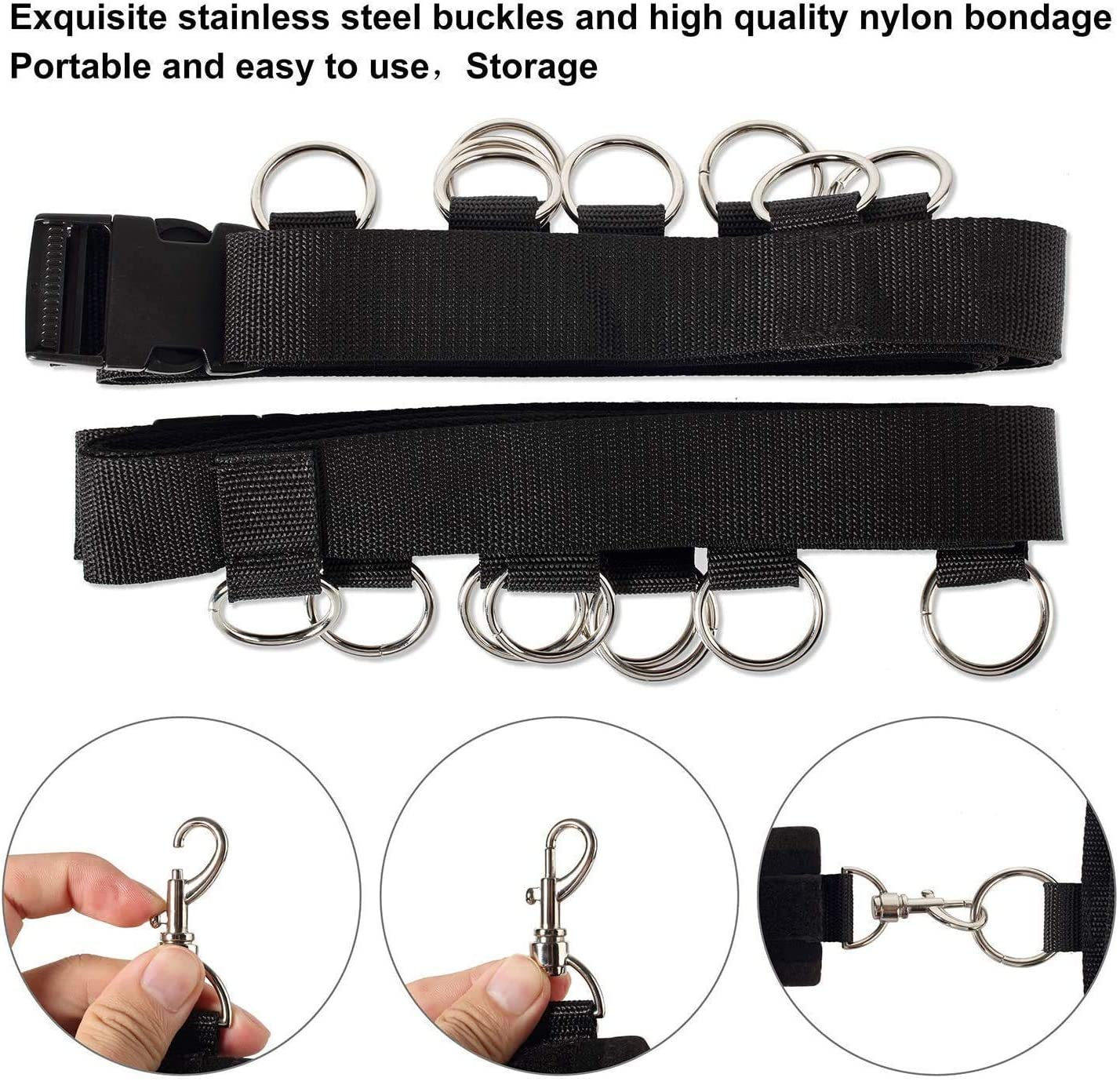 Novelty Nylon Combination Bed Soft Shoulder Strap Kit for Challenging Various Poses