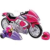 Mattel Barbie DHF21 - Modepuppen, Das Agententeam, Geheimagenten-Motorrad