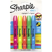 Sharpie Accent Gel Highlighter, Assorted Colors, 5-Count