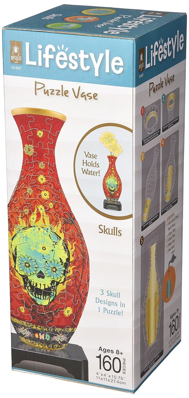 3D Puzzle Vase - Skulls University Games 31007