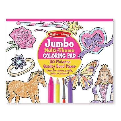Amazon.com: Melissa & Doug Jumbo 50-Page Kids\' Coloring Pad Paper ...