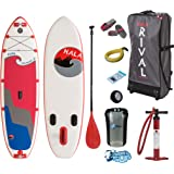 """HALA RIVAL STRAIGHT UP Inflatable SUP 2017 (10'0"""" x 33"""" x 6"""") Incl. Pumped Up SUP ERS Gear Pack"""