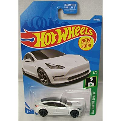 HW Tesla Model 3 White Green Speed HOTWHEEL New for 2020 DIECAST 174/250: Toys & Games