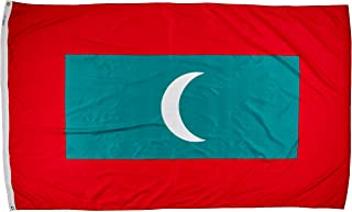 product image for Annin Flagmakers Model 195357 Maldives Flag Nylon SolarGuard NYL-Glo, 5x8 ft, 100% Made in USA to Official United Nations Design Specifications