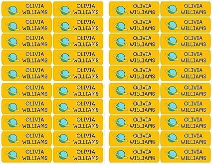 fiambreras para marcar objetos 50 Etiquetas Adhesivas Personalizadas libros de 6 x 1 cms Color Marino etc