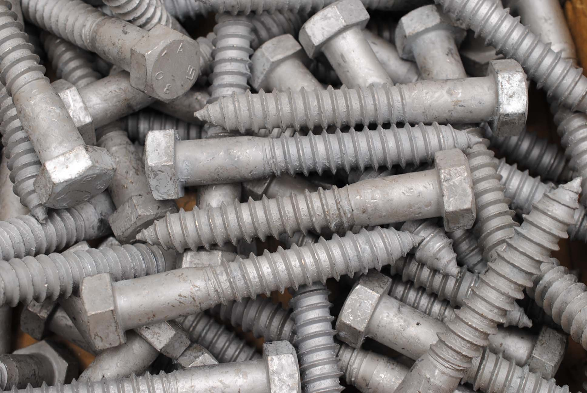(10) Galvanized Hex Head 3/4 x 5 Lag Bolts Wood Screws