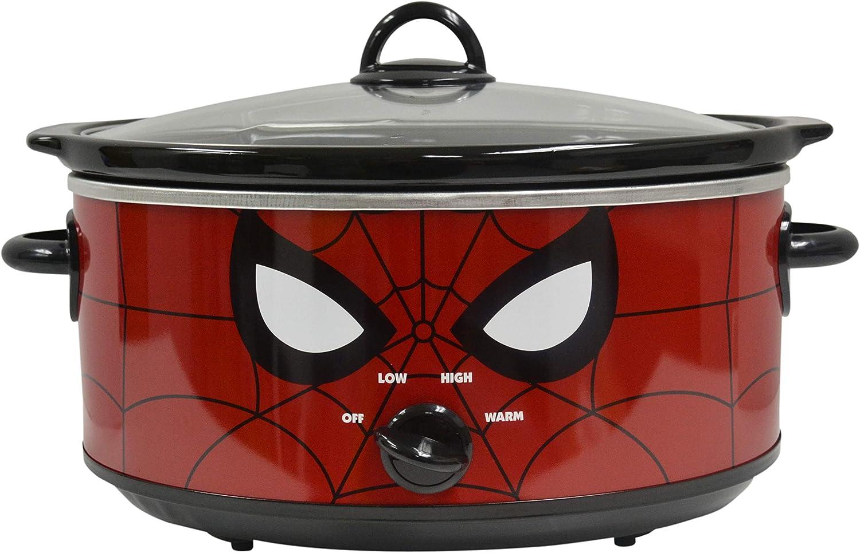 Uncanny Brands Marvel Spider-Man 7qt Slow Cooker- Your Friendly Neighborhood Slow Cooker