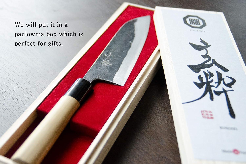 Amazon.com: 玄粋 KUROIKI - Handmade Japanese Chefs Knife ...