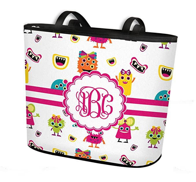 Amazon com: Girly Monsters Bucket Tote w/Genuine Leather
