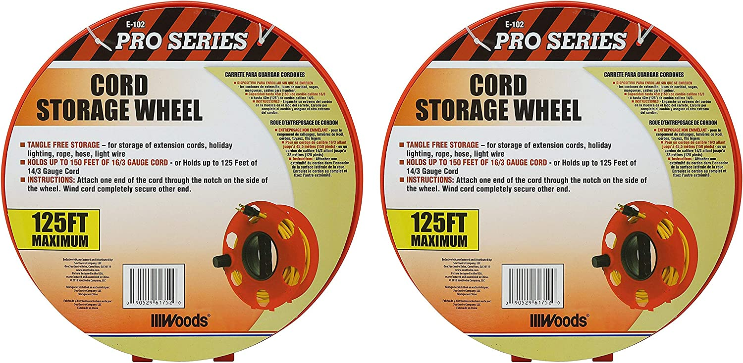 Coleman Cable E102 Wire Extension Cord Storage Reel
